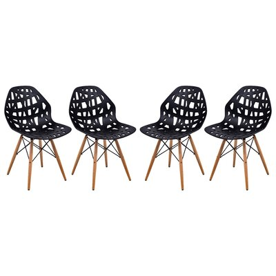 Macalester Side Chair Color: Black