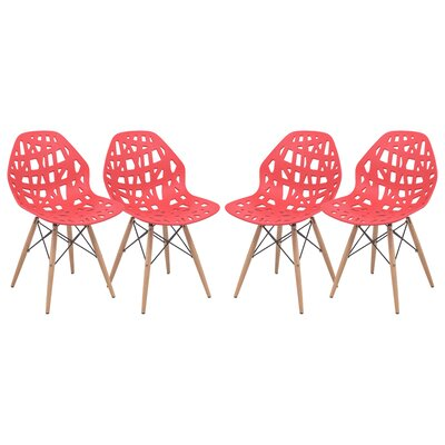 Akron Side Chair Finish: Red