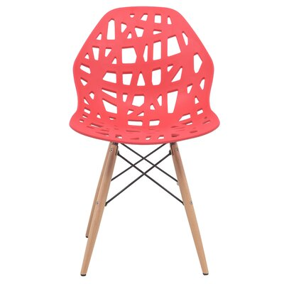Akron Solid Wood Dining Chair Finish: Red