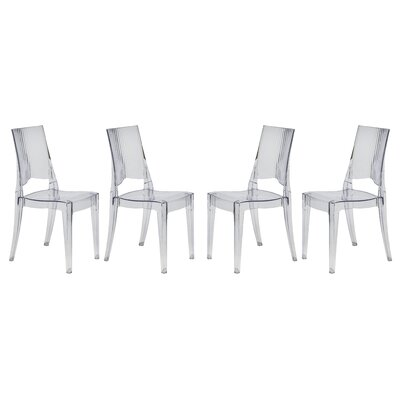 Coral Side Chair Finish: Transparent Clear