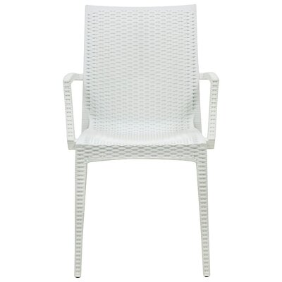 Mace Upholstered Dining Chair Finish: White