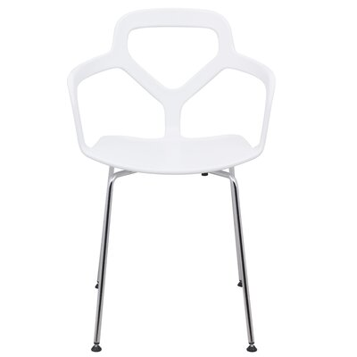 Carney Arm Chair Finish: White
