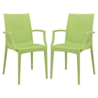 Mace Arm Chair Finish: Green