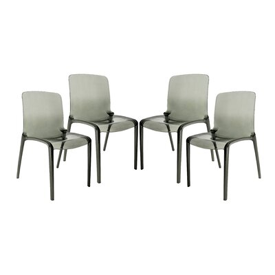 Maryln Side Chair Finish: Transparent Black