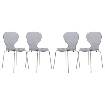 Oyster Side Chair Finish: Transparent Black