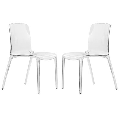 Maryln Stacking Patio Dining Chair Finish: Clear