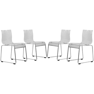 Lima Side Chair Finish: Transparent Clear