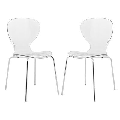 Oyster Side Chair Finish: Transparent Clear