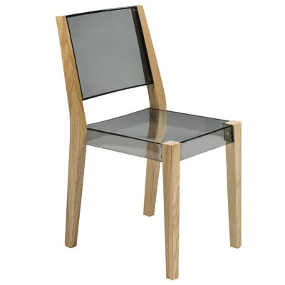 Barker Solid Wood Dining Chair Finish: Transparent Black