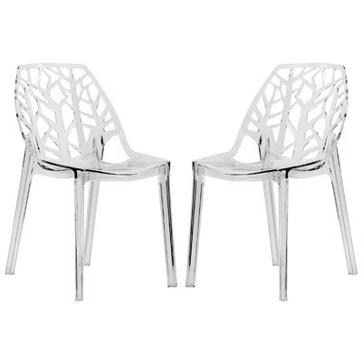 Kimonte Solid Back Side Chair Finish: Transparent Clear