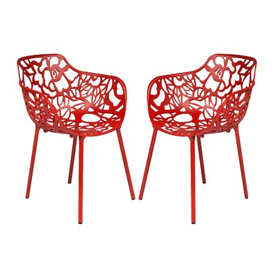Devon Arm Chair Finish: Red