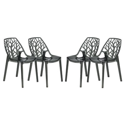 Kimonte Side Chair Finish: Transparent Black