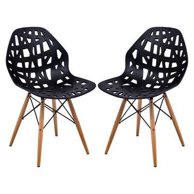 Akron Side Chair Finish: Black
