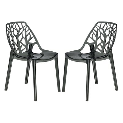 Kimonte Solid Back Side Chair Finish: Transparent Black