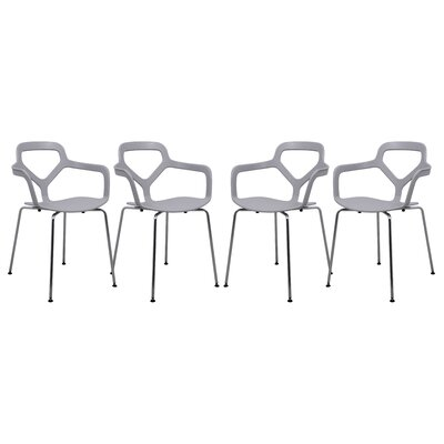 Carney Arm Chair Finish: Light Gray