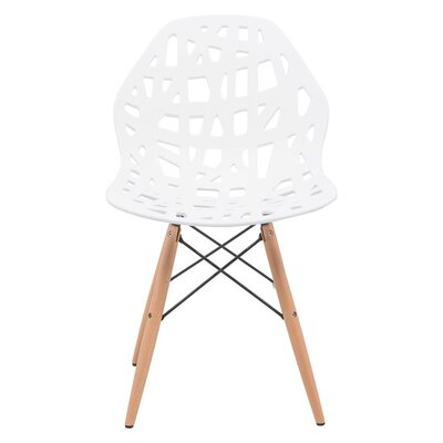 Macalester Solid Wood Dining Chair Color: White
