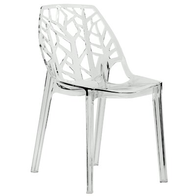 Kimonte Contemporary Side Chair Finish: Transparent Clear