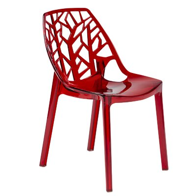 Kimonte Contemporary Side Chair Finish: Transparent Red