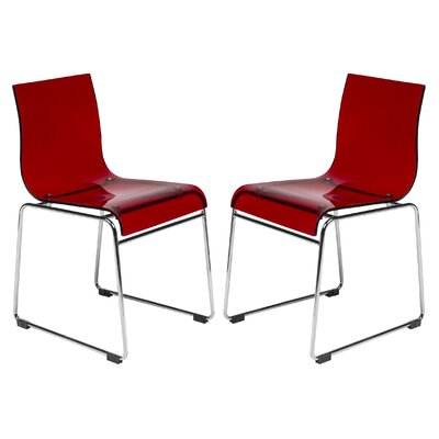 Lima Side Chair Finish: Transparent Red