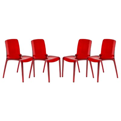 Maryln Side Chair Finish: Transparent Red