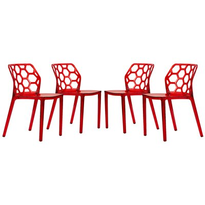 Dynamic Side Chair Finish: Transparent Red