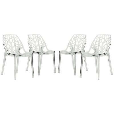 Kimonte Side Chair Finish: Transparent Clear