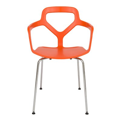 Carney Arm Chair Finish: Orange