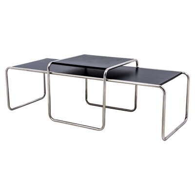 Malvern 2 Piece Nesting Tables Finish: Black