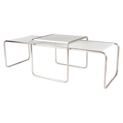 Malvern 2 Piece Coffee Table Set Color: White