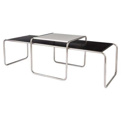 Malvern 2 Piece Nesting Tables Finish: Black/White