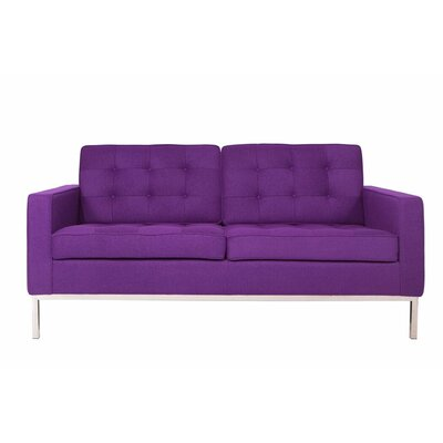 Lorane Loveseat Upholstery: Purple