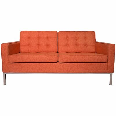 Lorane Loveseat Upholstery: Orange