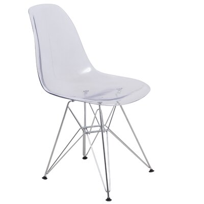 Cresco Eiffel Side Chair Finish: Clear