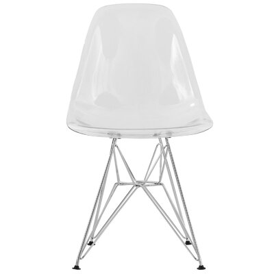 Alethia Dining Chair Color: Clear/Chrome