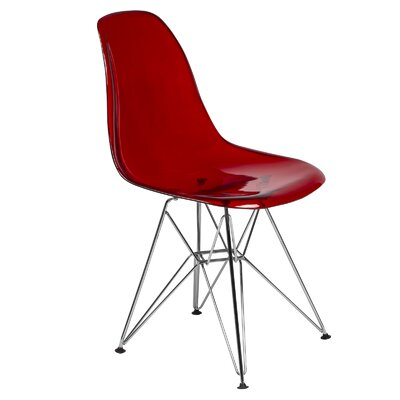 Cresco Eiffel Side Chair Finish: Transparent Red