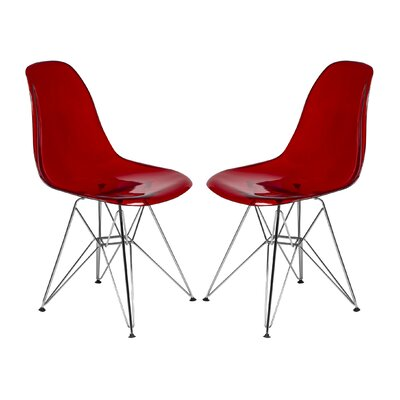 Cresco Side Chair Finish: Transparent Red