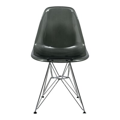 Alethia Patio Dining Chair Finish: Transparent Black/Chrome
