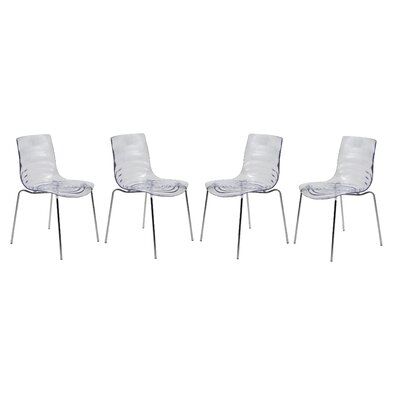 Astor Side Chair Finish: Clear