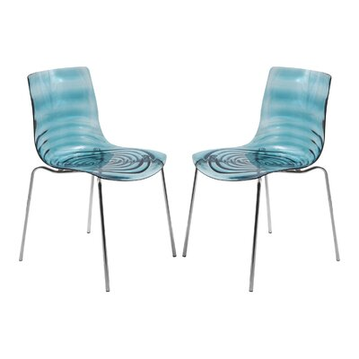 Astor Side Chair Finish: Transparent Blue