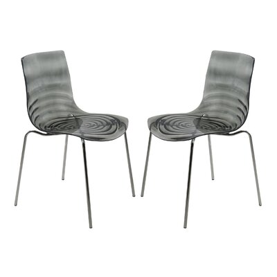 Astor Side Chair Finish: Transparent Black