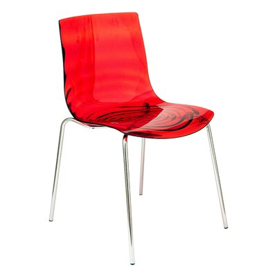 Astor Side Chair Finish: Transparent Red