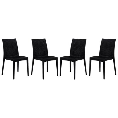 Mace Side Chair Finish: Black
