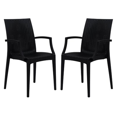 Mace Arm Chair Finish: Black