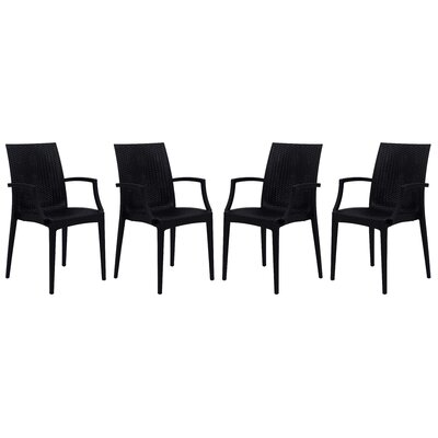 Mace Upholstered Dining Chair Finish: Black