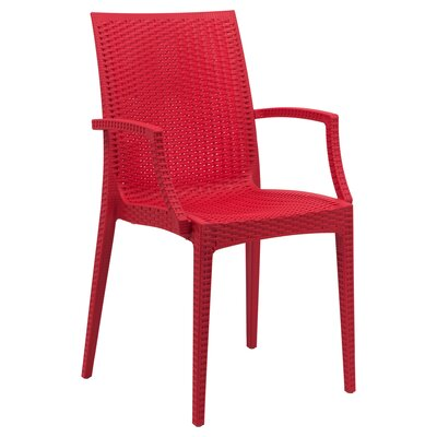 Mace Upholstered Dining Chair Finish: Red