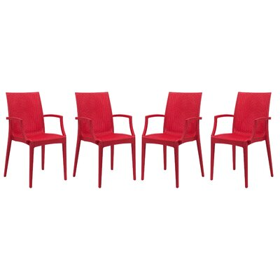 Mace Arm Chair Finish: Red