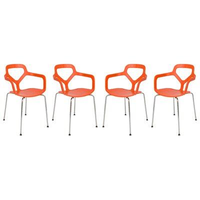 Carney Arm Chair Finish: Orange