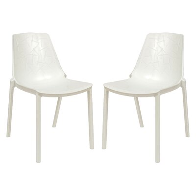 Clover Side Chair Finish: White