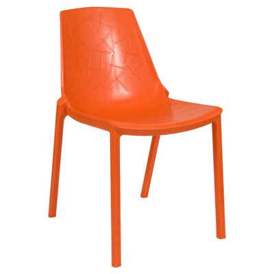 Clover Side Chair Finish: Orange