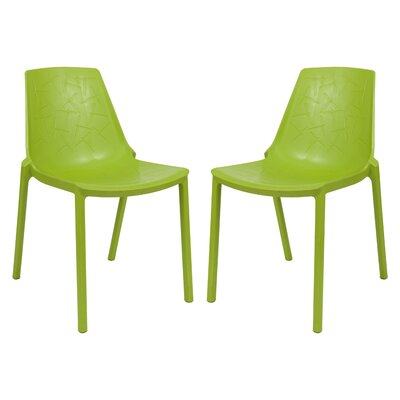 Clover Side Chair Finish: Green